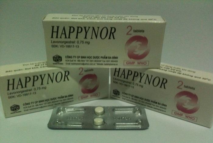 Thuốc tránh thai khẩn cấp Happynor